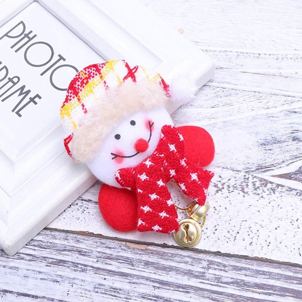 Oulensy No/ël LED Clignotant Broche Badge No/ël Broche pour Party Cadeau Enfants Favors 4pcs