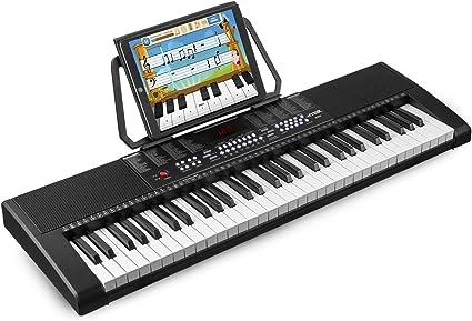 Max KB4 - Teclado electrónico piano de 61 teclas, pantalla LCD, función de grabación, 2 altavoces integrados, salida de auriculares, entrada MIC y ...