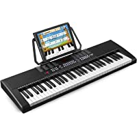MAX KB4 Electronic Keyboard 61 Key Digital Piano Lighted LED Learning recording Playback