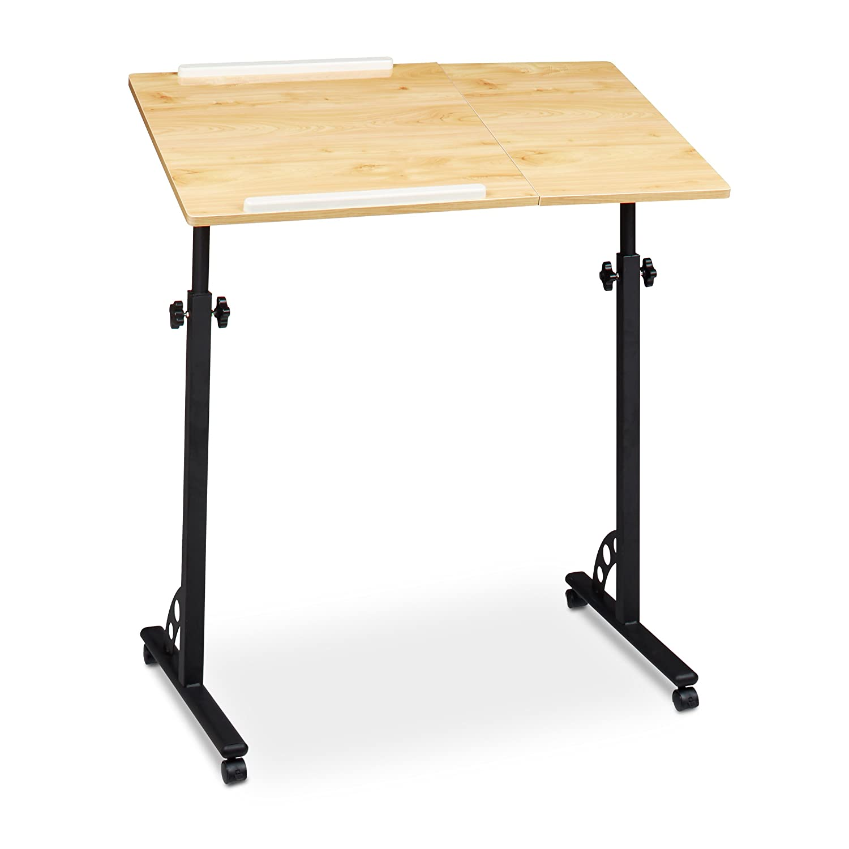 Relaxdays Table Ordinateur Portable Hxlxp 110 X 80 X 50 Cm  # Table Ordi En Bois