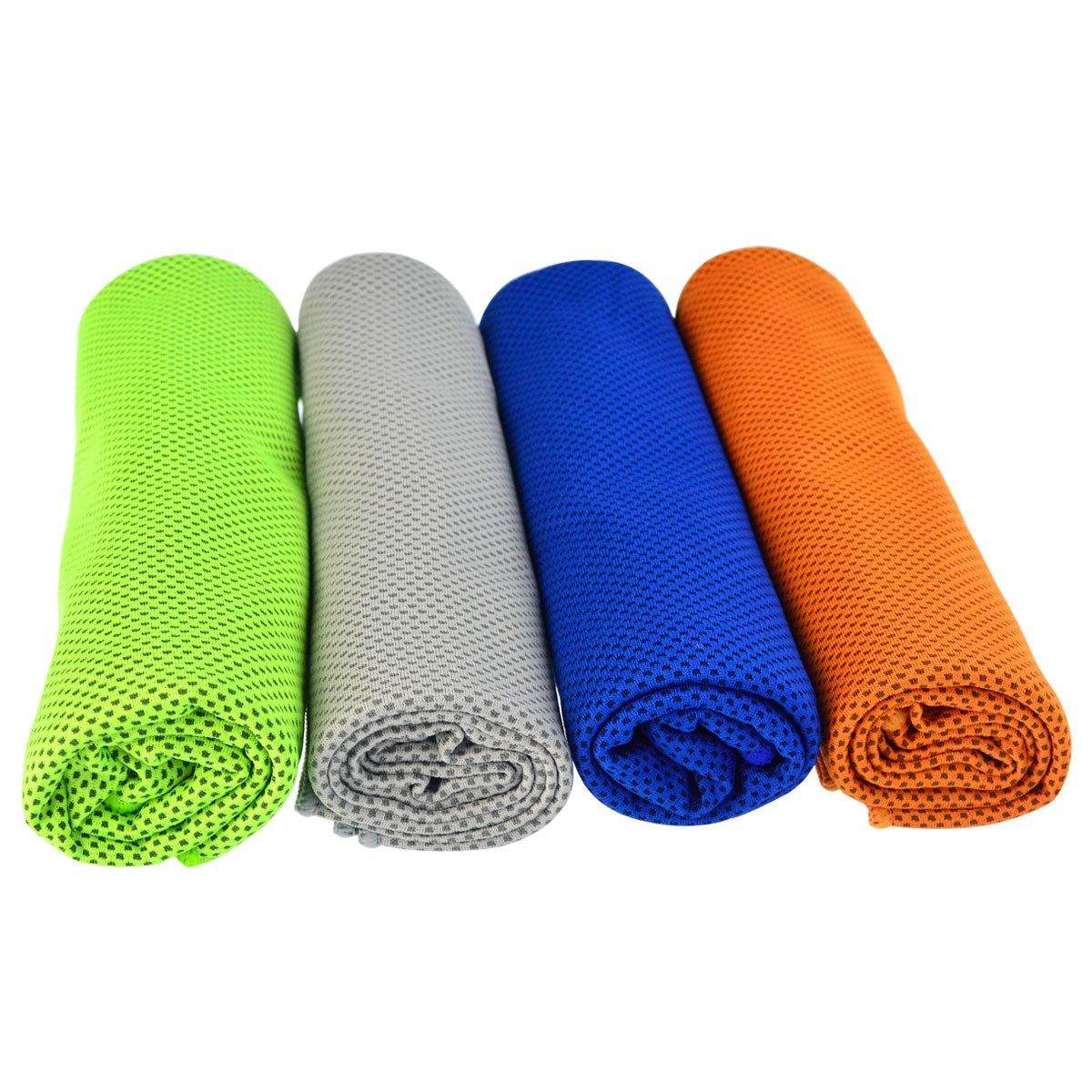 Tongcloud Cooling Towels 4 Pack Ice Towels for Workout, Outdoor Sports, Gym, Extra Long Cold Towel for Neck and Head