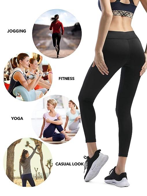 Amazon.com: Pantalones de entrenamiento para mujer de media ...
