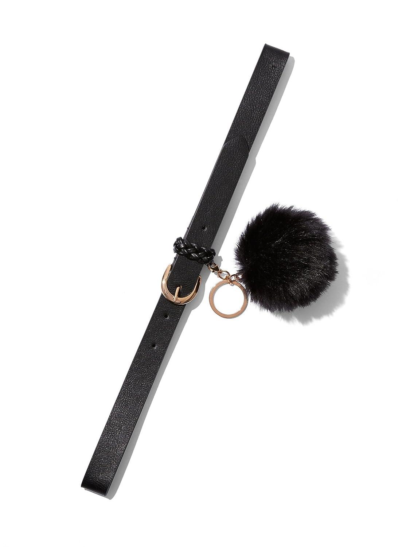 New York & Co. Women's Pom-Pom Keychain Belt