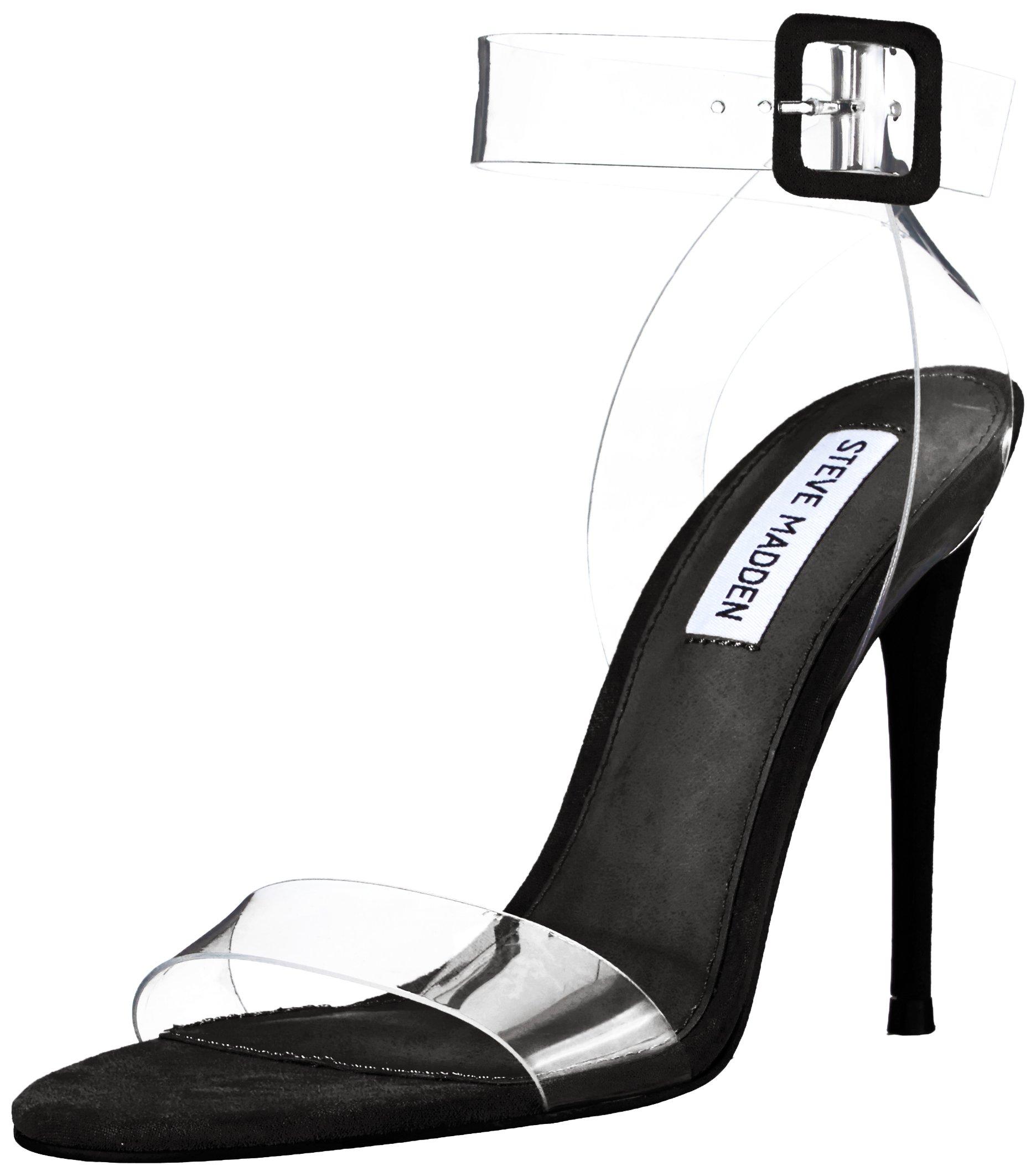 35d99c32694 Steve Madden Women's SEEME Heeled Sandal, Black, 6 M US