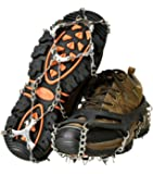 Lougnee Non-slip Spikes Crampons Ice Snow Shoes Chain Cleats for Climbing Walking and Hiking