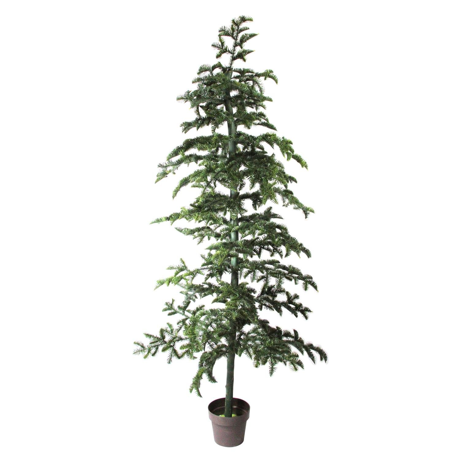 77'' Artificial Green Spruce Topiary Tree Potted Plant