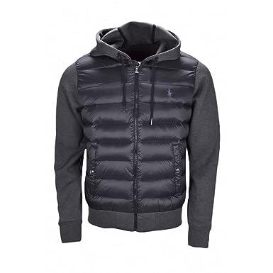 2b99f4cc52f4 Veste bi-matière Ralph Lauren noir pour homme  Amazon.fr  Vêtements ...