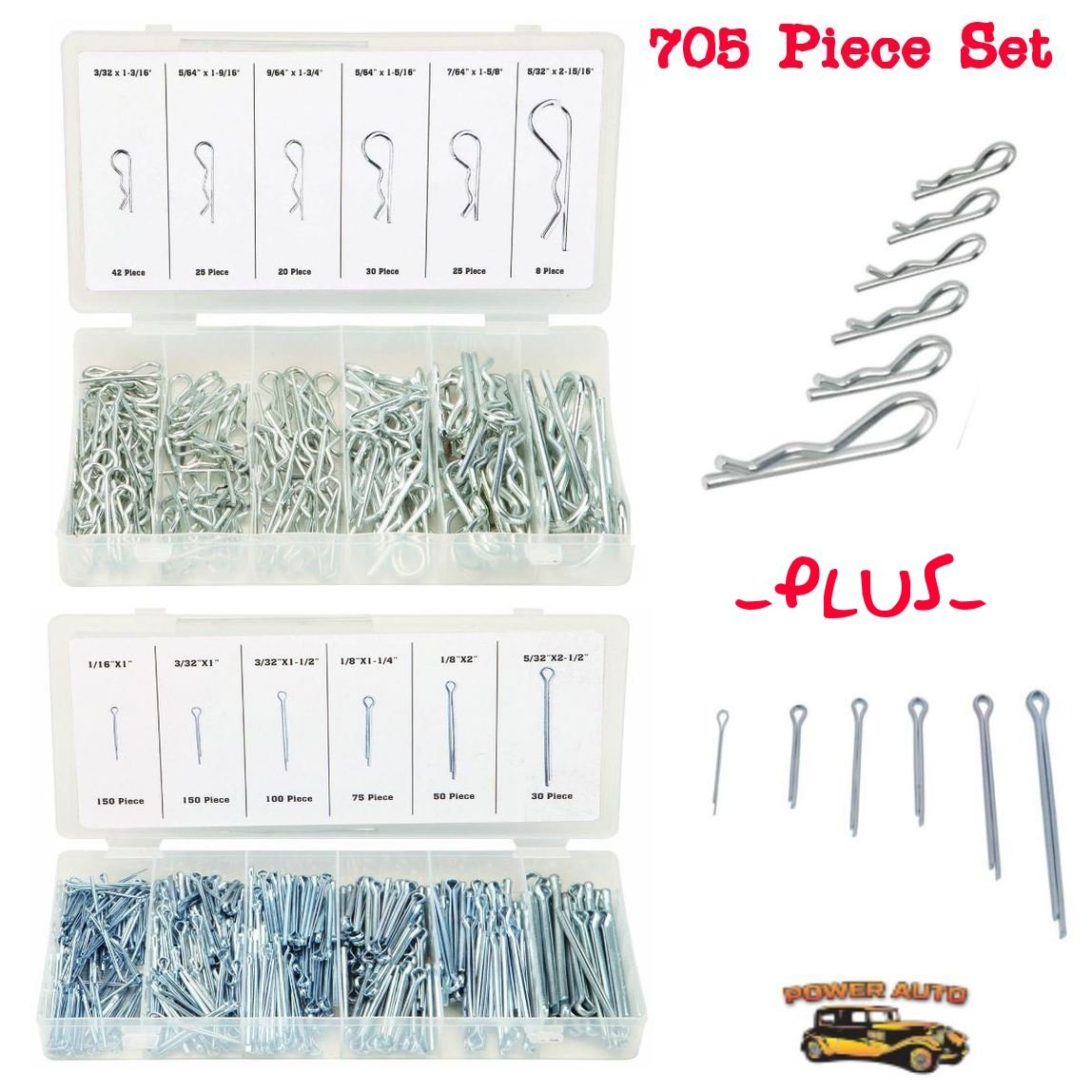Piece-30 3//32 x 1-5//8 Hard-to-Find Fastener 014973222123 Hitch Pin Clips