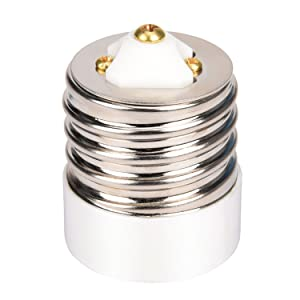 E39 to E26/E27 Adapter JACKYLED 1 Pack of Mogul E39 to Medium E26/E27 Light Bulb Lamp Socket Porcelain Converter Max Watt 660W