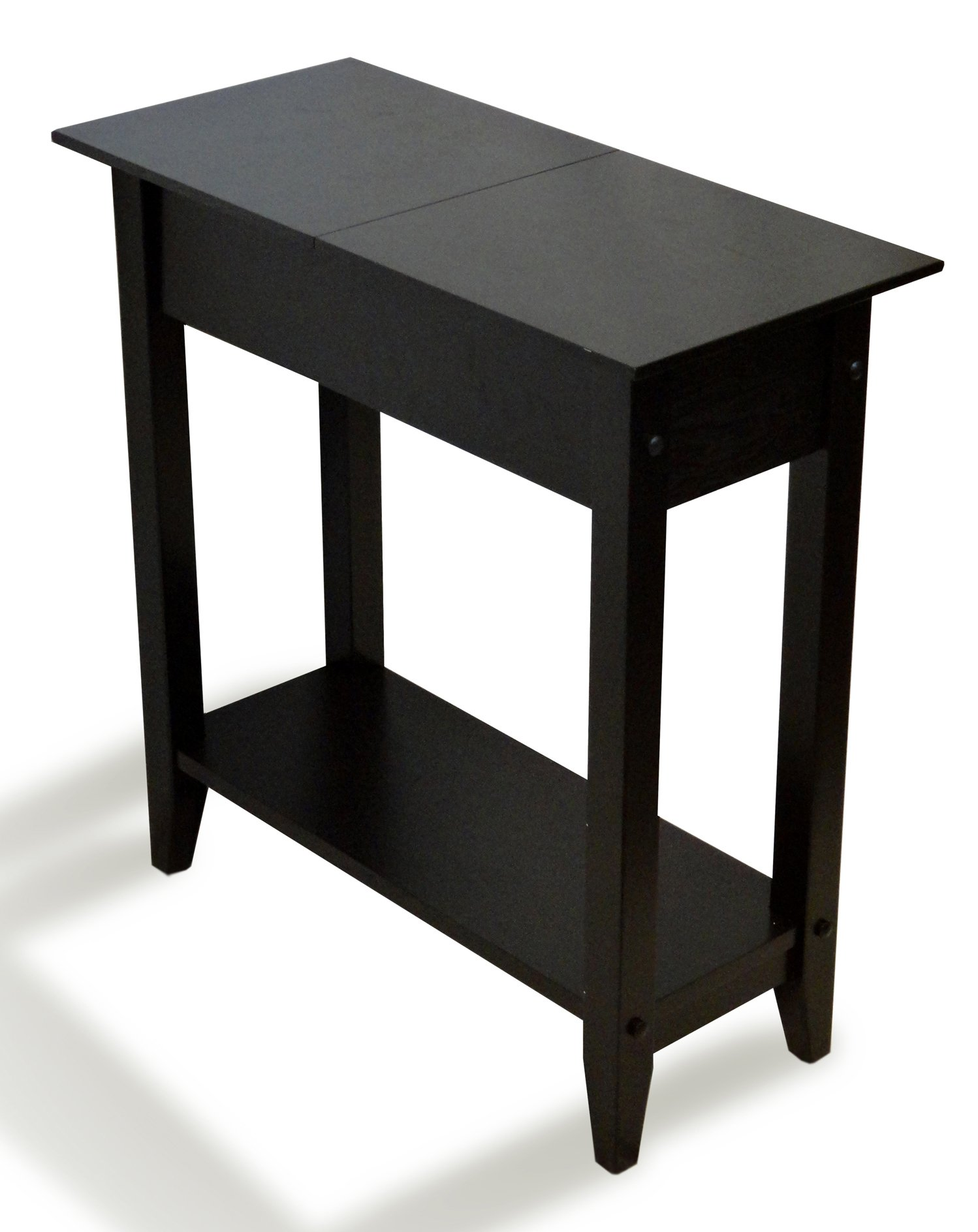 Convenience Concepts American Heritage Flip Top End Table, Black