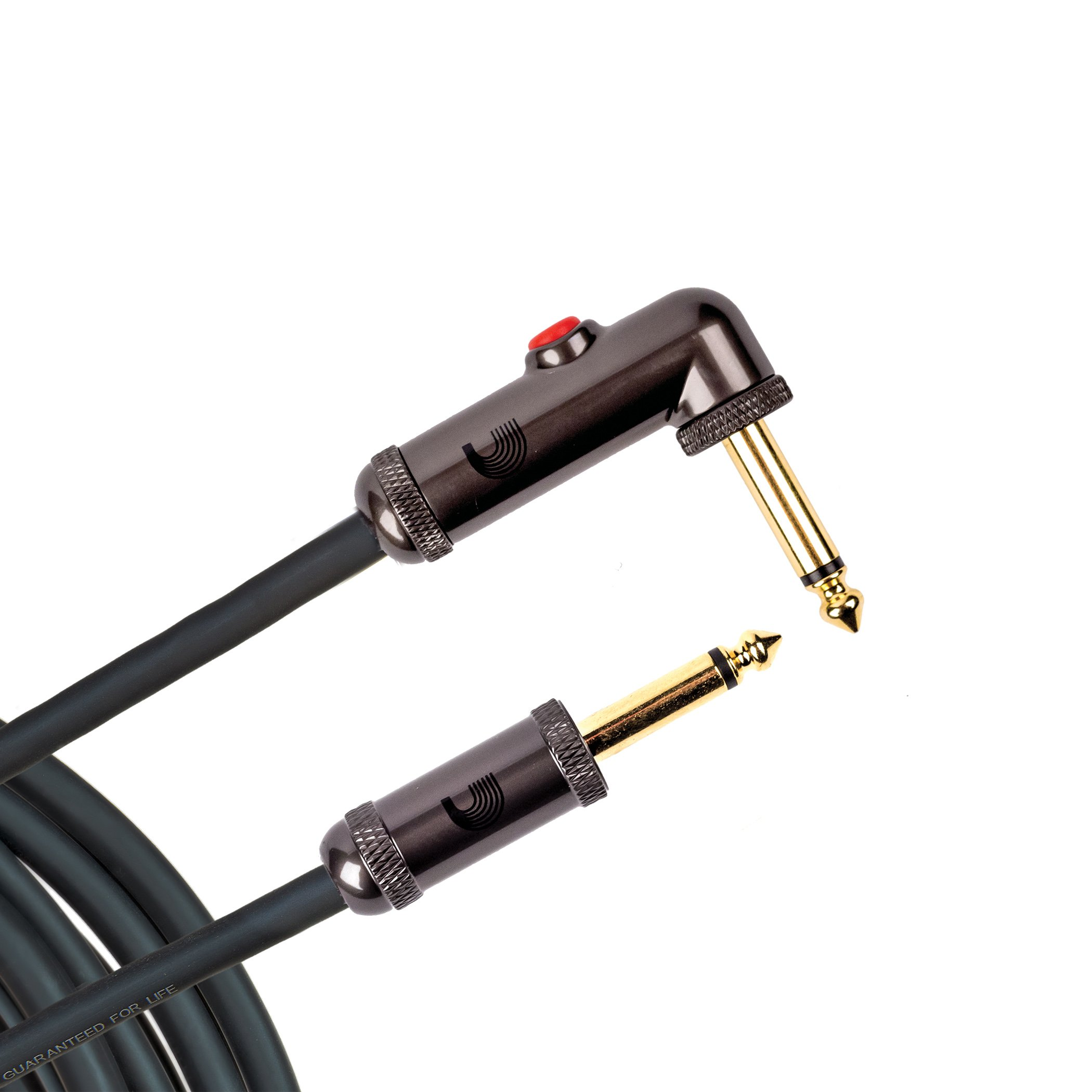 D'Addario 10' Circuit Breaker Instrument Cable with Latching Cut-Off Switch, Right Angle Plug by D'Addario