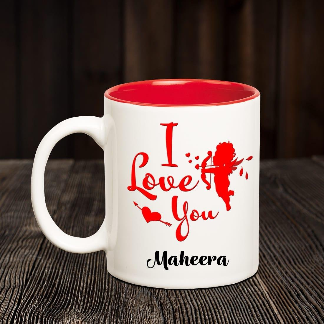 Buy Chanakya Ceramic I Love You Maheera Romantic Inner Red Coffee Name Mug Multicolor 350 Ml Online At Low Prices In India Amazon In