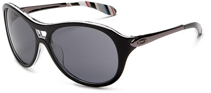 Oakley Women\u0027s Vacancy Round Sunglasses,Black Frame/Grey Lens,one size