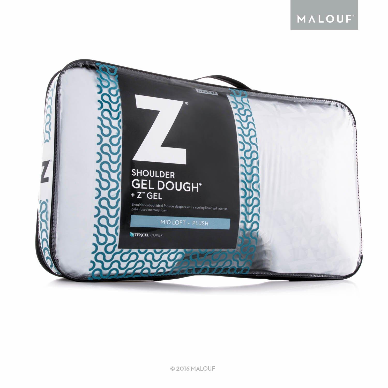Z Side Sleeper Shoulder Cutout Gel DOUGH Memory Foam Pillow with Liquid Gel Layer - Queen by MALOUF (Image #6)