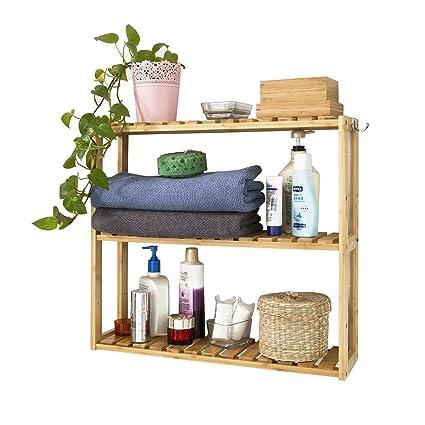 SoBuy® Mensola da parete, scaffale pensile, mensola da bagno ...