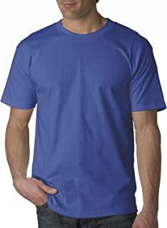 product image for Bayside Apparel Adult USA Made Short Sleeve T-Shirt, Royal, 4XL