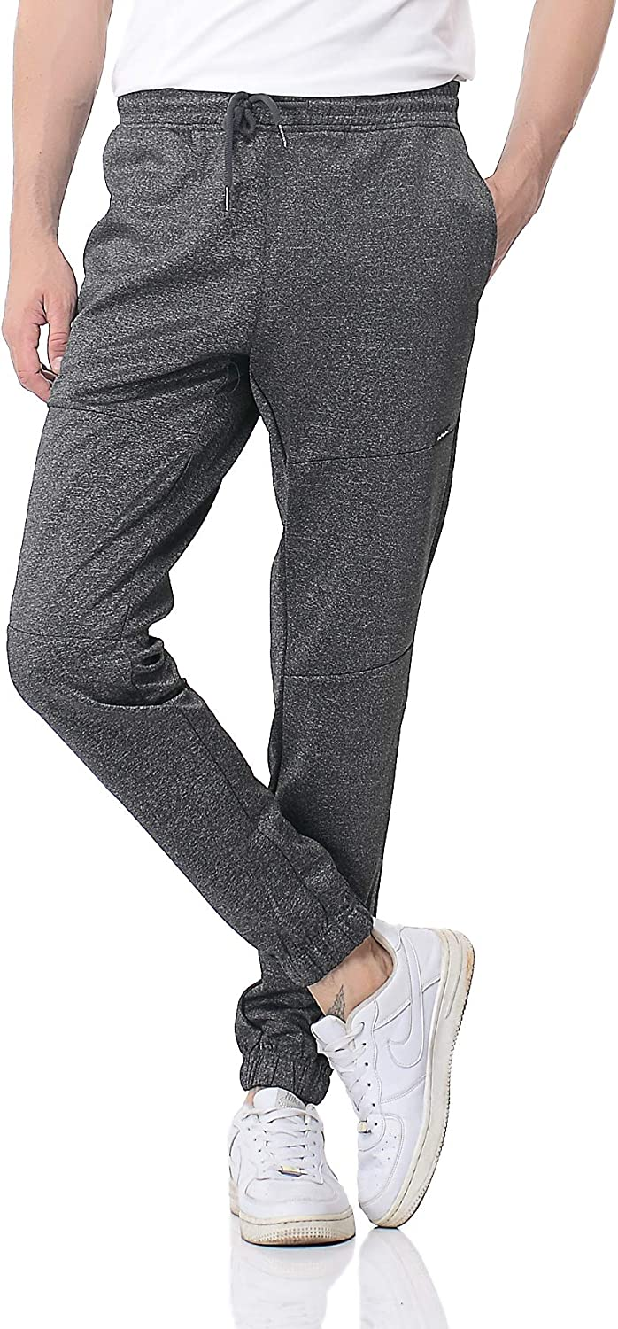 Pau1Hami1ton Mens Sweatpants Open Hem Lightweight Jogging Bottoms Elasticated Waist Athletic Pants Tracksuit Trousers with Pockets for Workout,Gym,Fitness,Running,Training PH-29A