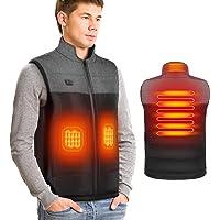 DOACT Chaleco calefactable para Hombre Chalecos calefactores eléctricos con Carga USB, calefacción Independiente para…