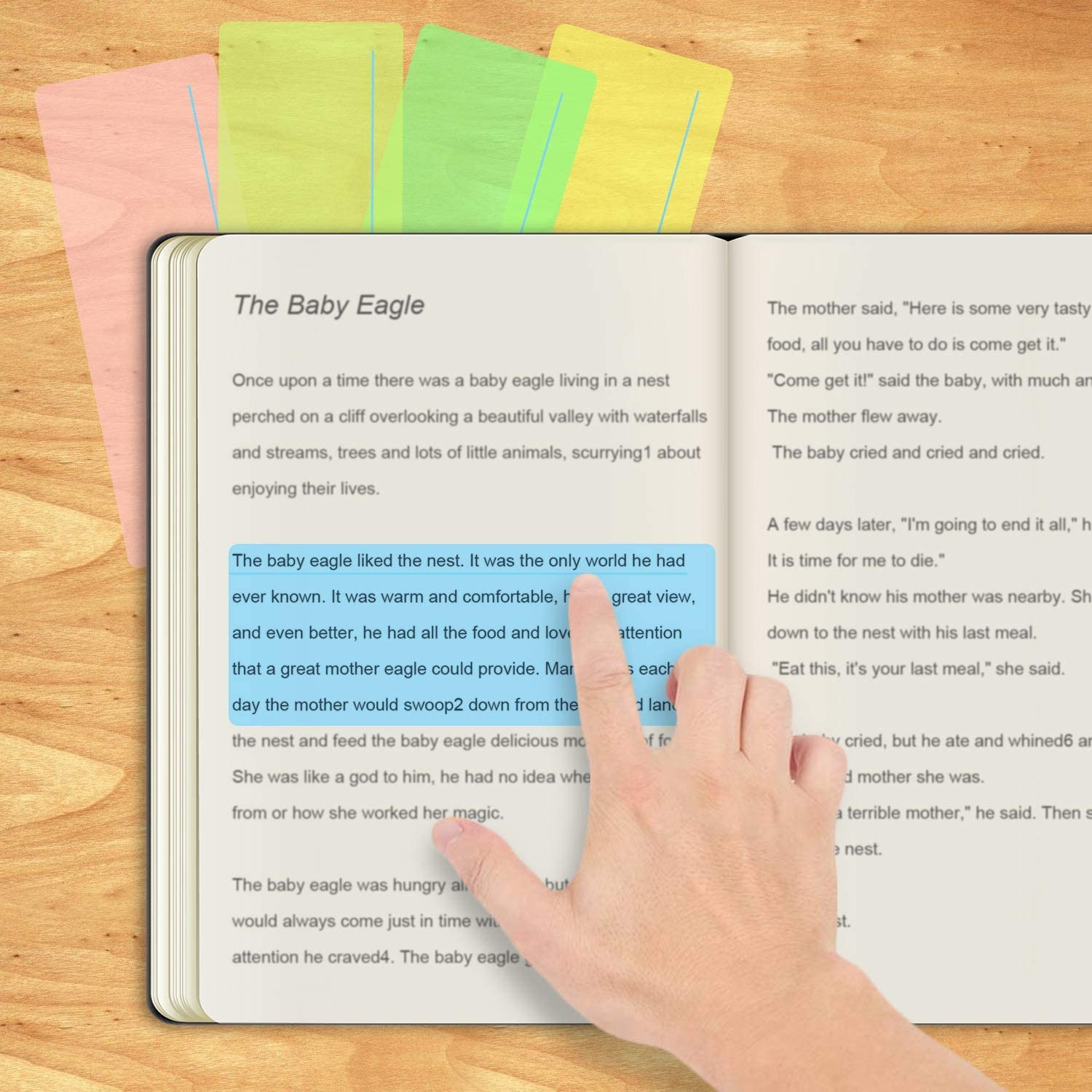 Guided Reading Highlight Strips Colored Overlay Reading Tracking Rulers Helps with Reduce Visual Stress (8 Pack) : Office Products