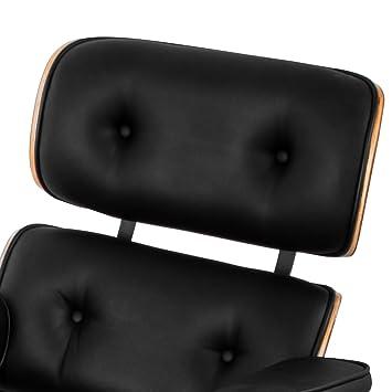 Autovictoria Lounge Sillón y Ottoman 7-Capa de Chapa Laminada Nuez Eames Style Lounge Silla