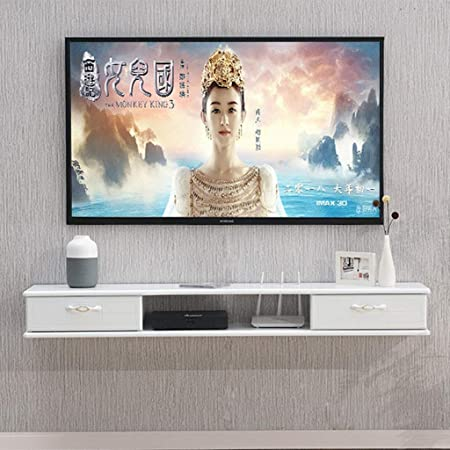 Wifi Estante del enrutador Estante flotante Consolas de montaje en pared Gabinete para TV Caja de