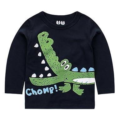 acheter en ligne 36c73 68938 CHIC-CHIC Haut Pull-over Sweat-shirt Bébé Fills Garçon Enfant Longue Manche  T-shirt Top Imprimé Motif Crocodile Mignon Souple Casual Printemps