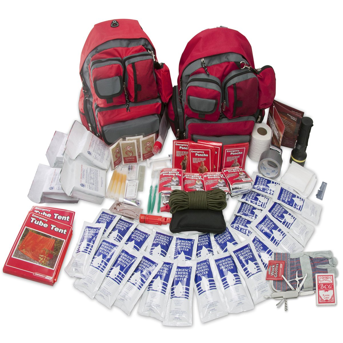 Emergency Zone 4 Person Family Prep 72 Hour Survival Kit/Go-Bag | Perfect