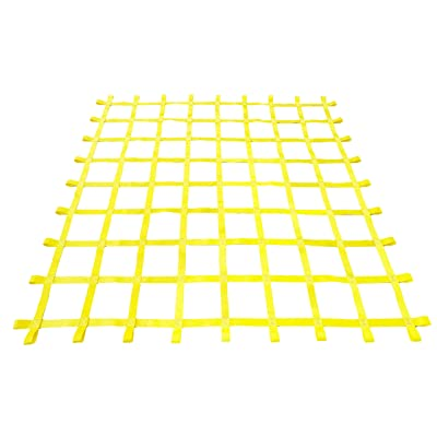 Fong 8 ft X 8 ft Climbing Cargo Net Yellow- Playground Cargo Net - Outdoor Climbing Net for Kids - Climbing Net for Swingset: Sports & Outdoors