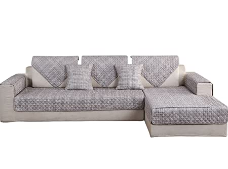 Amazon.com: HOTNIU 1 Piece Non-Slip Quilted Sectional Sofa ...