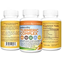 Paleovalley - Organic Turmeric Complex - Full Spectrum Organic Turmeric with Health-Supportive Superfoods - 60 Vegetarian Capsules - Support Joints, Brain Health, Immunity and Cardiovascular Function