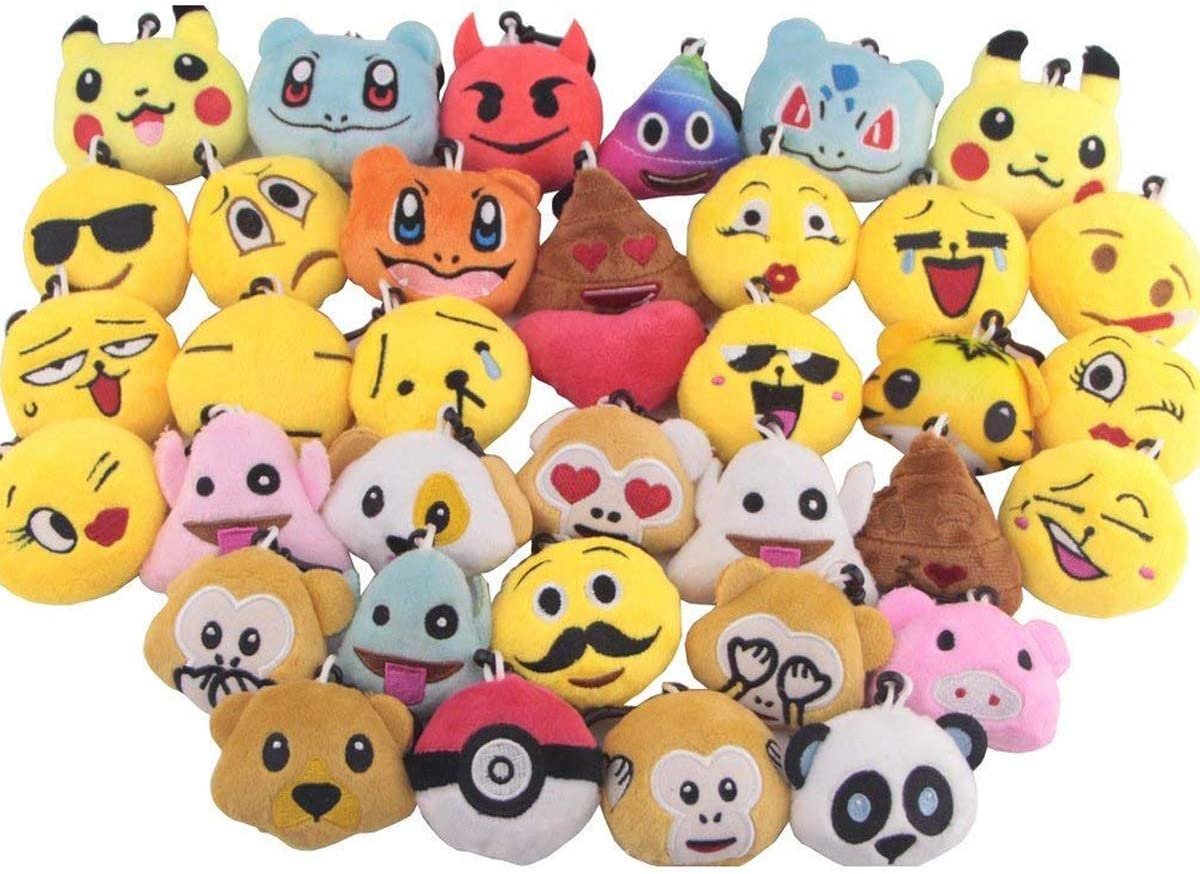 Mini Keychain Decorations Swity Home 36 Pack Mini Emoji Plush Toy Emoticon Toy Set of 36 SYNCHKG115937 for Party Decoration Party Supplies Favors