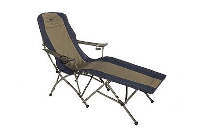 Kamp Rite Folding Lounge Chair, Tan/Blue