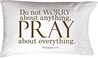 """product image for Imagine Design 20""""x30"""" Sleep On It Worry/Pray Pillow Cover, 20"""" x 30"""""""
