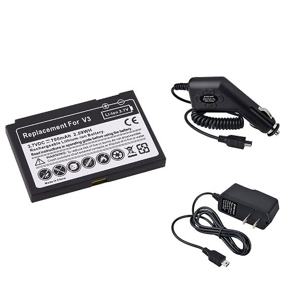 9747e27bd8c6eb Amazon.com: Battery + Car + Home Charger for Motorola Razr V3 Razr ...