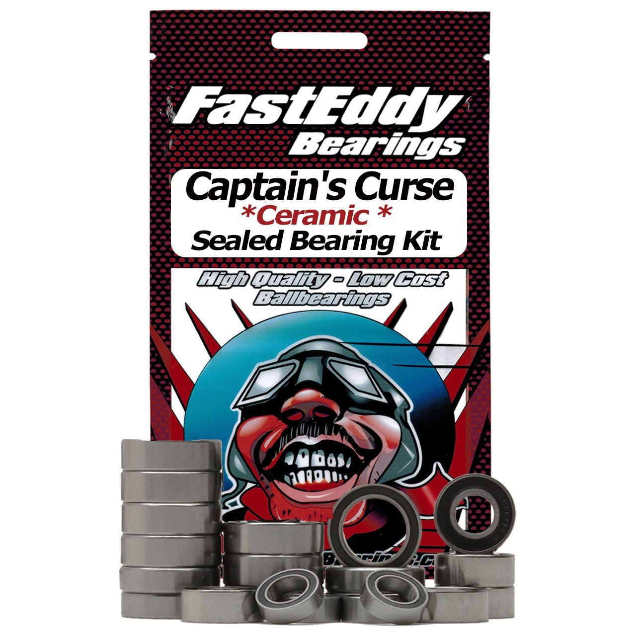 Traxxas Captains Curse Ceramic Rubber Sealed Ball Bearing Kit for RC Cars Toys & Games Model Building Kits & Tools