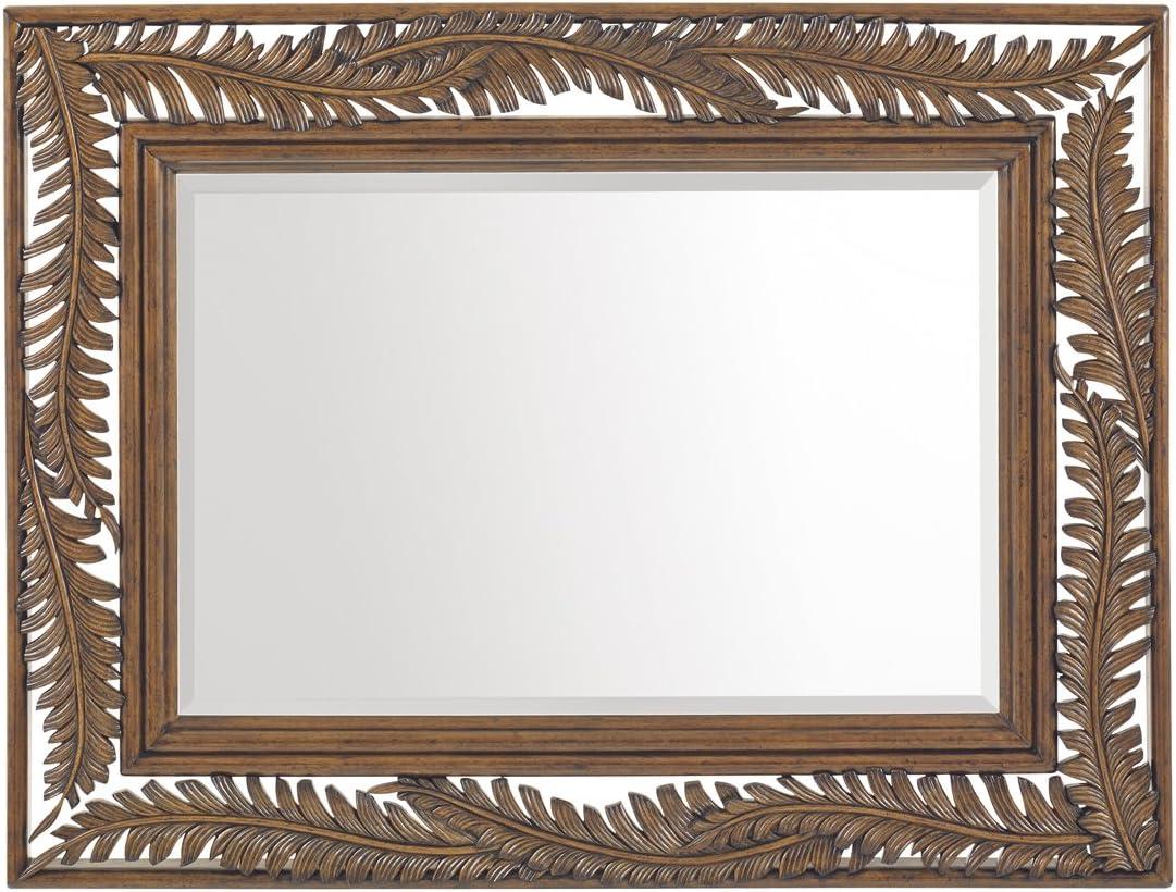 Tommy Bahama Bali Hai Seabrook Landscape Mirror in Warm Brown