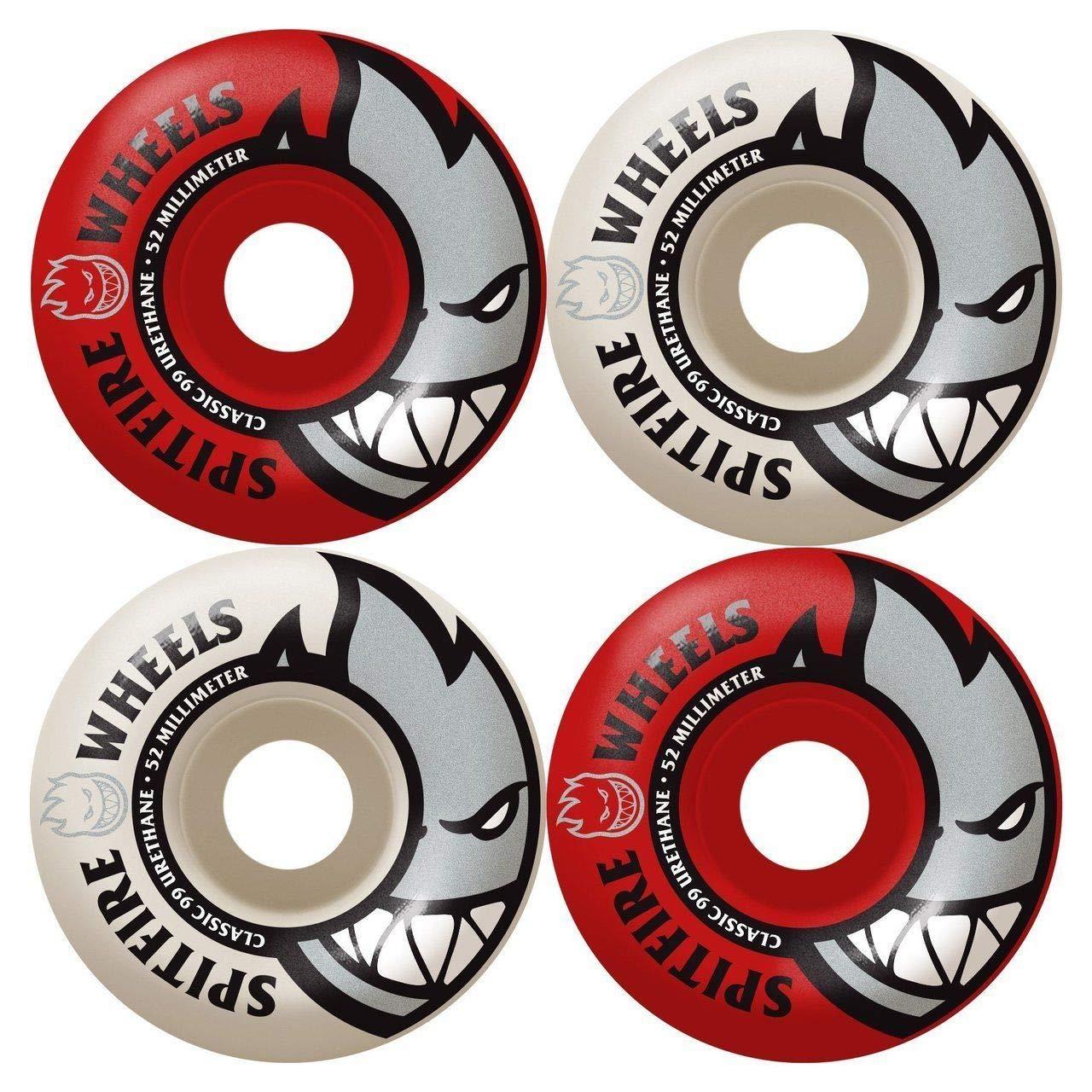 Classic 53Mm 99A White Red Skateboard Wheels