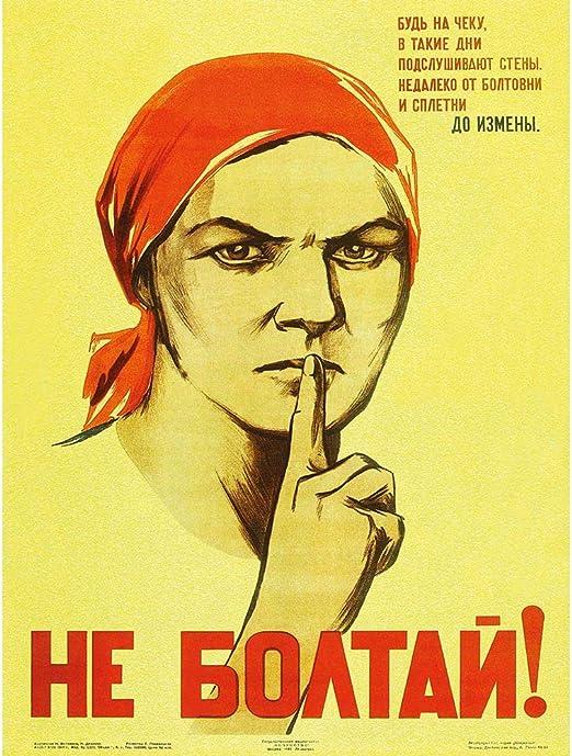 Amazon.com: War Propaganda WW2 Unión Soviética Gossip Retro ...