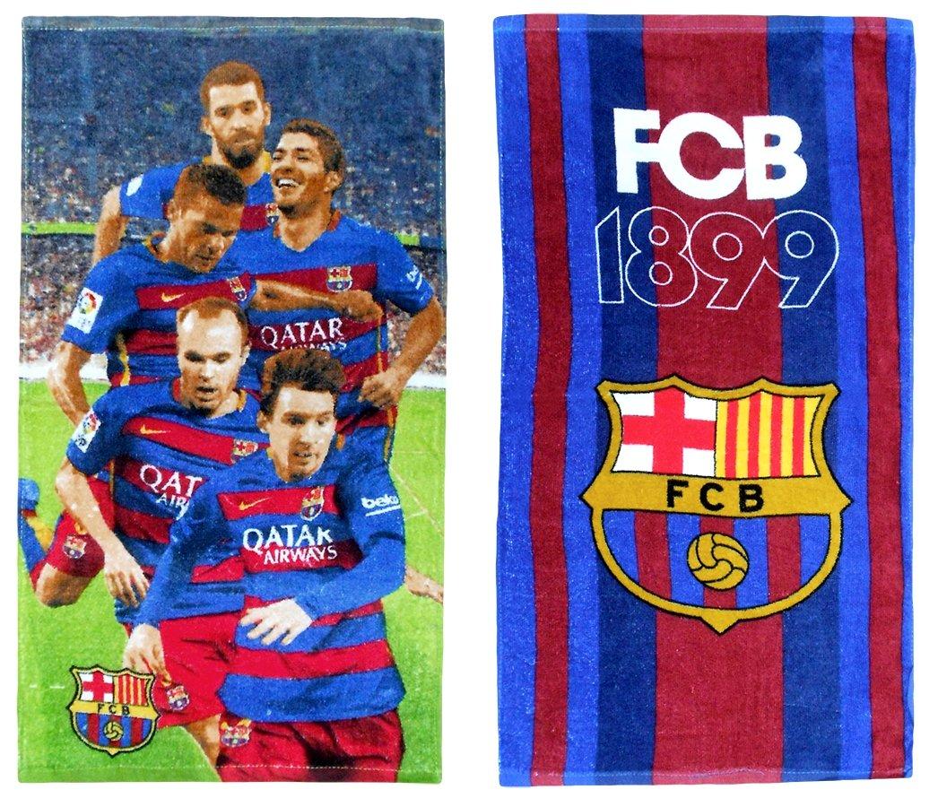 FC Barcelona Handtuch FCB Strandtuch Duschtuch 70x140cm Fußball Saunatuch