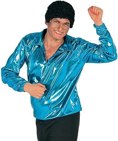 Guirca 18506 - Camisa Disco Azul Turq.Adulto Talla L 52-54: Amazon.es: Juguetes y juegos