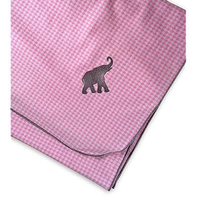 Gift For Baby Alabama Crimson Tide Receiving Blanket Pink