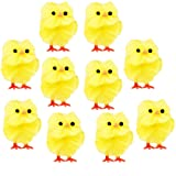 10 x Plush Easter Chicks Easter Egg Yellow Decorations
