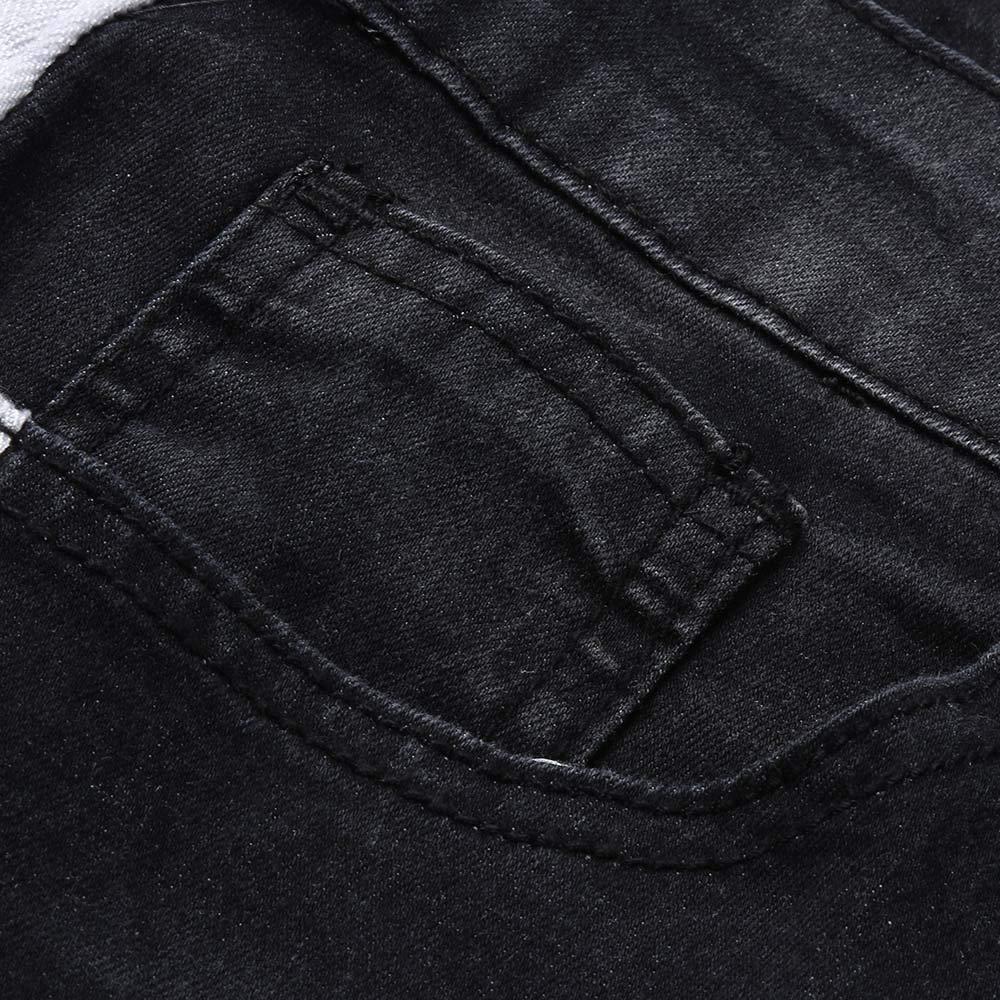 VPASS Pantalones Vaqueros para Hombre,Pantalones Casuales Moda Jeans Rotos Trend Largo Pantalones Pants Skinny Pantalon Fitness Jeans Largos Pantalones Ropa de Hombre