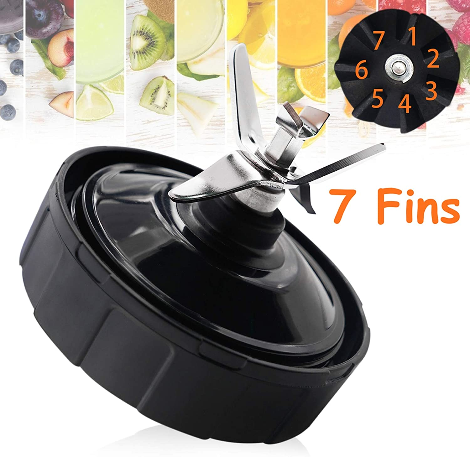 Mithome Ninja Blender Replacement Parts, Ninja Blender Parts Nutri Ninja Blender Blade Ninja Blender Accessories Extractor Blade Assembly with 7 Fins ...