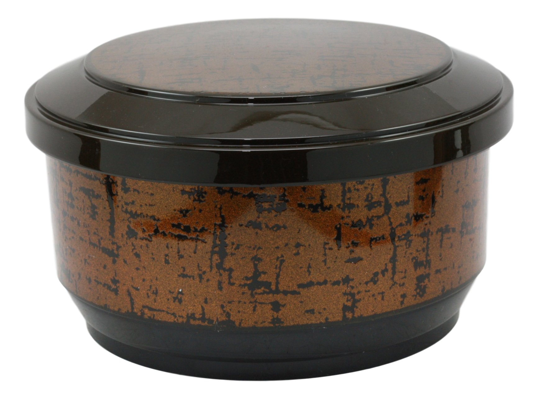 Ebros Large Japanese Restaurant Grade Gold Ohitsu Rice Container Serving Bowl With Scoop For 3-4 People Party Hosting Restaurant Supply