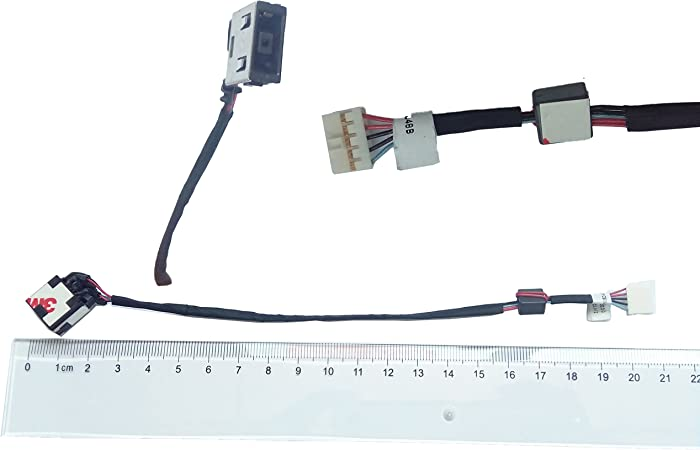 DC-IN Jack for Lenovo Ideapad Yoga Y50 Y50-70 DC30100RB00, DC Power Jack Harness Port Connector Socket with Wire Cable.