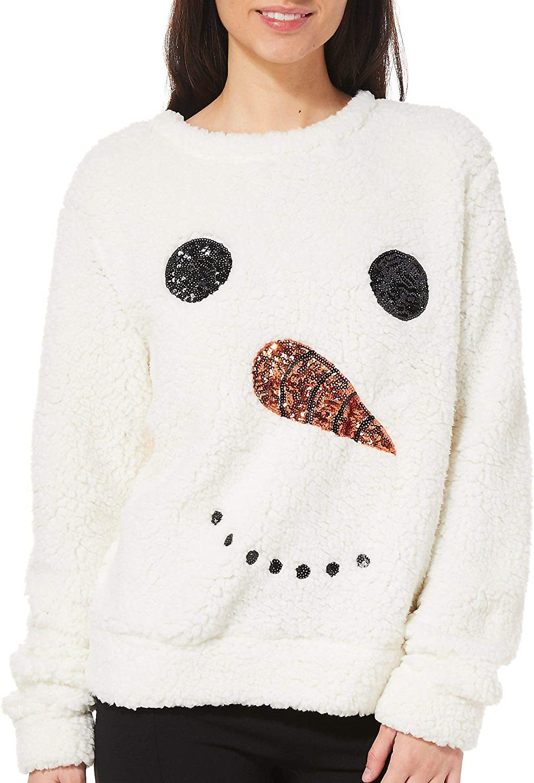 Snowman White Soft Juniors T-Shirt