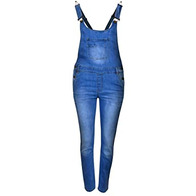 0cfba7bf82a1 ShopOnline® KIDS DENIM DUNGAREE GIRLS JUMPSUIT CHILDRENS PLAYSUIT OVERALL  RELAXED ROMPER JEAN TOP  Amazon.co.uk  Clothing
