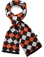 SSLR Men's Warm Cashmere Feel Checkered Scarf
