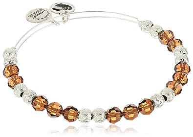 Alex And Ani Swarovski Beaded Earth Expandable Wire Bangle Bracelet